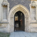 Wolsey's fine canopied niches flanking the west door