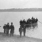 Embarking for Wherry Quay