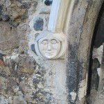 Carving on doorway