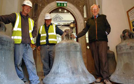 The Five bells of St Lawrence Church